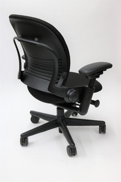 Leap Chair by Steelcase In Black Fabric + Pivot Arms