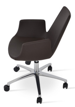Soho Concept Eiffel Arm Office Chair in Leather