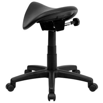 Flash Furniture Backless Saddle Stool
