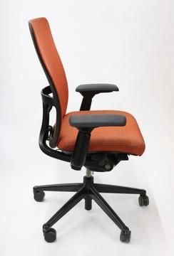 Haworth Zody Chair Mesh Back Fully Adjustable Model in Orange