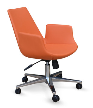 Soho Concept Eiffel Arm Office Chair in Leatherette