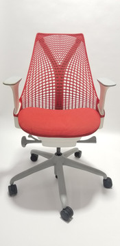 Herman Miller Sayl Chair White and Red Seat
