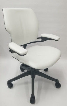 Humanscale Freedom Chair Fully Adjustable Model White Leather