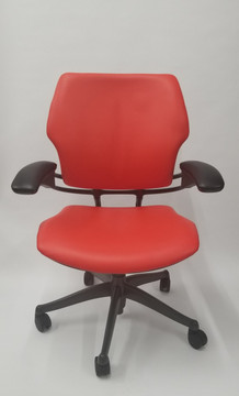 Humanscale Freedom Chair Fully Adjustable Model Red Leather