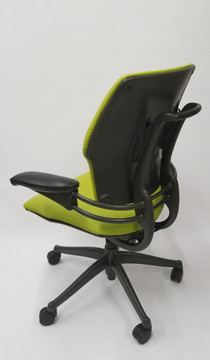Humanscale Freedom Chair Fully Adjustable Model Lime Green Leather