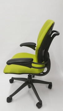 Refurbished Humanscale Freedom Chair Fully Adjustable Model Lime Green Leather