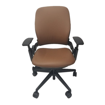 Steelcase Leap Chair V2 In Brown Leather
