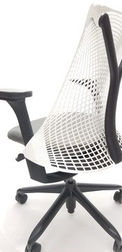 Herman Miller Sayl Chair White and Gray Seat + High Performance Arms