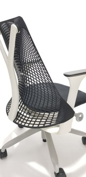 Herman Miller Sayl Chair Black and Black Seat + Performance Arms