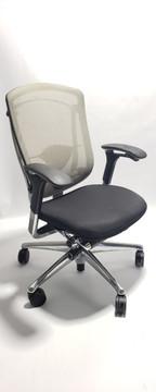 Nuova Contessa Teknion Beige Mesh Back and Black Seat, Fully Adjustable Model
