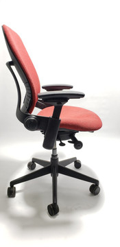 Steelcase Leap Chair V2 In Red Fabric