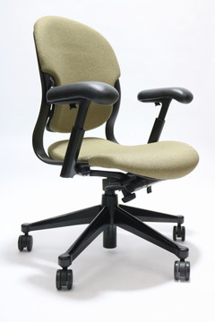 Refurbished Herman Miller Equa Chair in Gold Fabric Size B