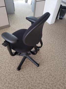Steelcase Criterion Chair In Fabric in Black