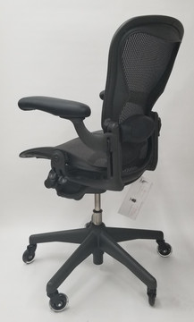 Herman Miller Aeron Chair Semi Loaded Size B, FREE Leather Arms, FREE Rollerblade Casters