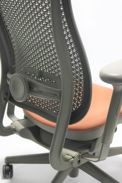 Herman Miller Celle Chair RedOrange Seat + Adjustable Lumbar