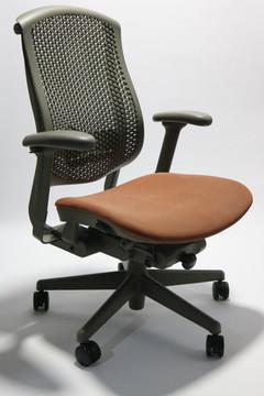 Herman Miller Celle Chair RedOrange Seat + Adjustable Lumbar