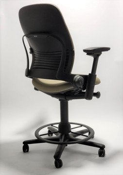 Steelcase Leap Drafting Work Stool Chair V2 Gold Fabric