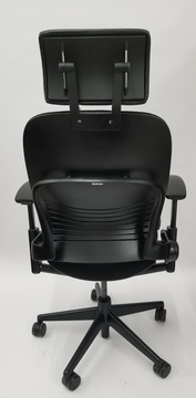 Steelcase Leap Chair V2 Black Fabric With Headrest