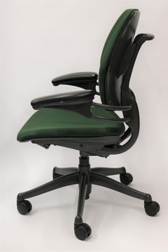 Humanscale Freedom Chair Fully Adjustable Model Green Fabric