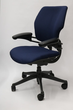 Humanscale Freedom Chair Fully Adjustable Model Navy Fabric