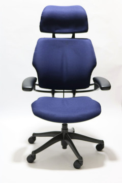 Humanscale Freedom Chair Fully Adjustable Model With Headrest Navy