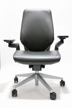 Steelcase Gesture Chair + 4D Adjustable Arms Black Leather