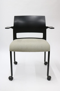 Move Chair By Steelcase Black Back Fabric Seat + Stackable