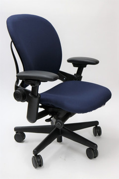 Leap Chair By Steelcase In Navy Fabric + Pivot Arms