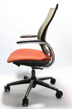 Liberty Chair By Humanscale Polished Frame Orange Seat
