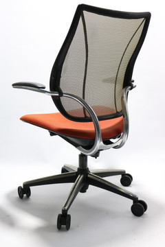 Humanscale Liberty Chair Polished Frame Orange Seat