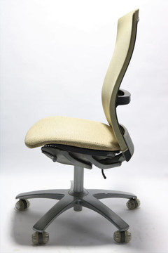 Knoll Life Chair Beige Mesh Back and Beige Seat No Arms