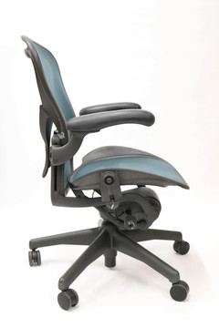 Aeron Chair By Herman Miller Fully Featured with Posturefit Size B Jade Green