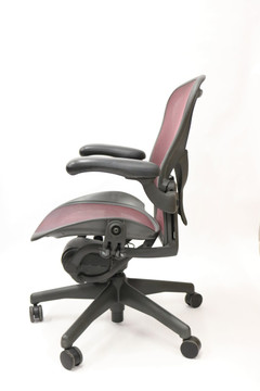 Aeron Chair By Herman Miller Fully Featured with Posturefit Size B Burgundy