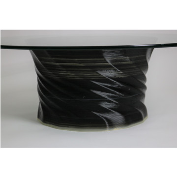"""Crawl Coffee Table Round 48"""" Glass Top By ModernPeek"""