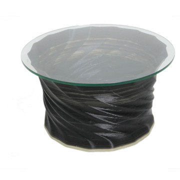 """Crawl Coffee Table Round 30"""" Glass Top By ModernPeek"""