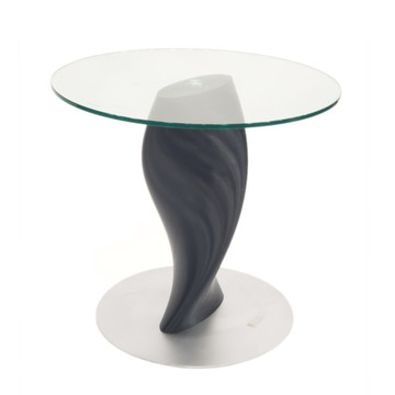 Edge Round Glass Dining Table by ModernPeek