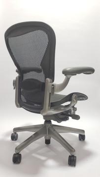 Aeron Chair by Herman Miller Platinum Frame and Black Mesh Size B