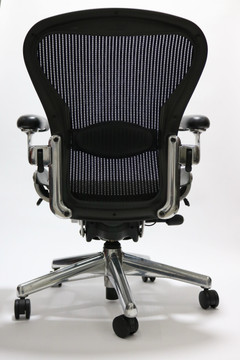 Herman Miller Aeron Executive Chair Size B Black with Polished Frame