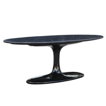 Tulip Flower Coffee Table Oval Marble Top by Fine Mod Saarinen Style