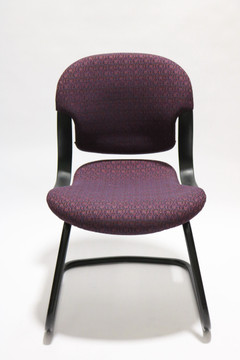Refurbished Herman Miller Equa Guest Side Chair Purple Fabric