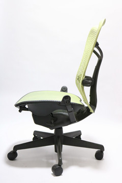 Herman Miller Mirra Chair Citron Flex Back Mesh Seat No Arms