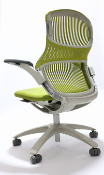 Generation Chair By Knoll + Fully Adjustable Model Green Back and Green Seat