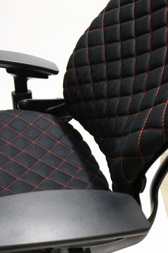 Refurbished Steelcase Leap Chair V2 In Fabric Black Diamond Executive Model