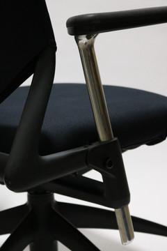 Vitra Meda2 Chair Black Fabric Seat Mesh Back