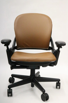 Steelcase Leap Chair In Light Brown Leather