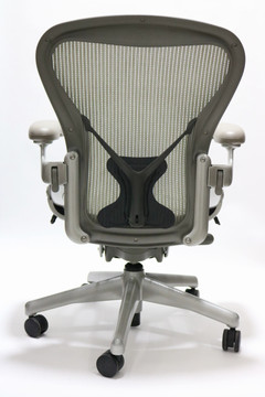 Herman Miller Aeron Chair With Posturefit Platinum Frame Basic Model With Some Options
