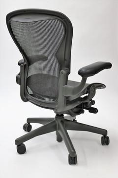 Herman Miller Aeron Chair Semi Options Model Size C Black With Lumbar