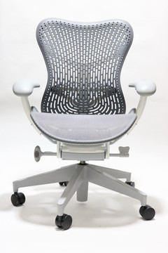 Herman Miller Mirra V2 Chair In Gray Mesh White Frame