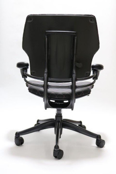 Humanscale Freedom Chair Fully Adjustable Diamond Executive Model Black Leather Pink Stitching