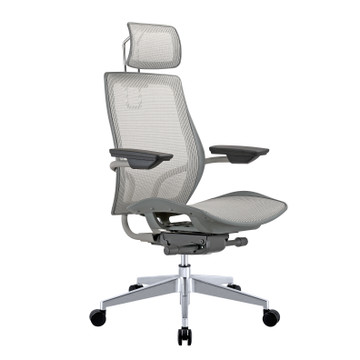 Humanspine Office Chair by Seating Mind in Nicole Gray Mesh Seat and Back Brand NEW